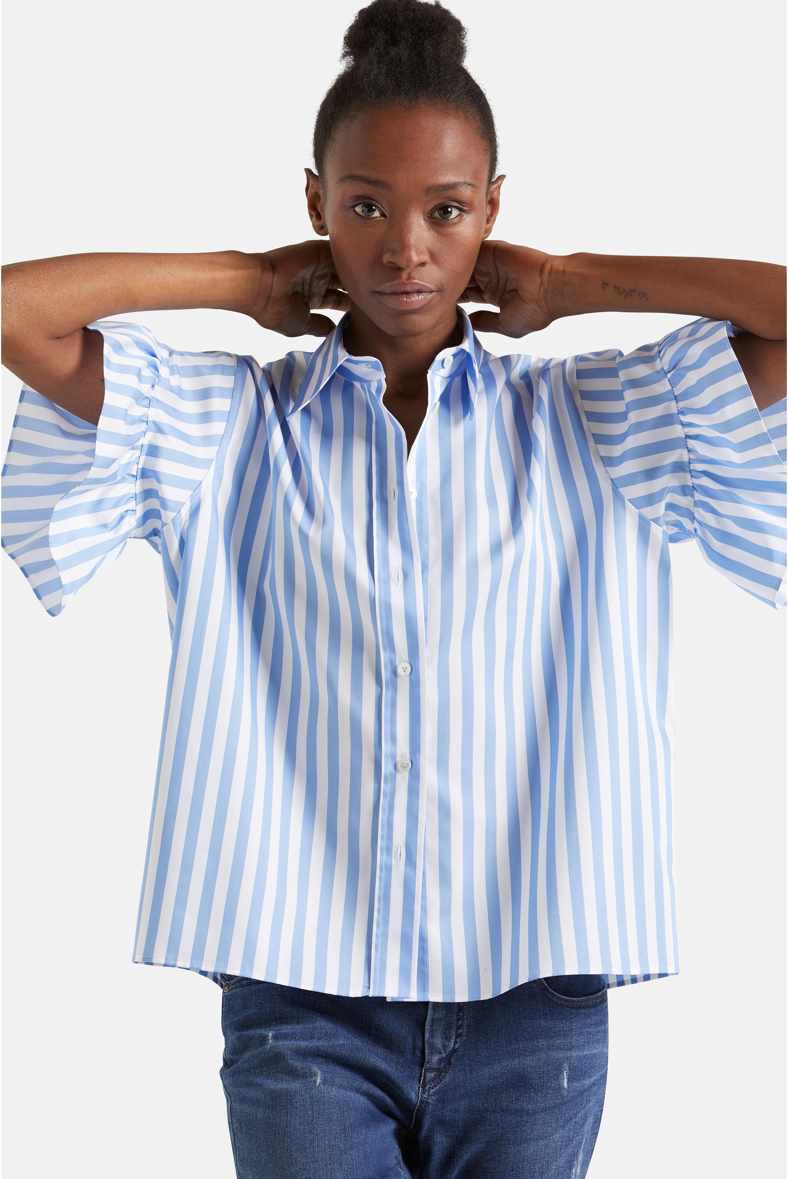 Sale+Moderne  Bluse mit Streifen Comfort Fit Blau Weiß+05.518H..151461.730.44