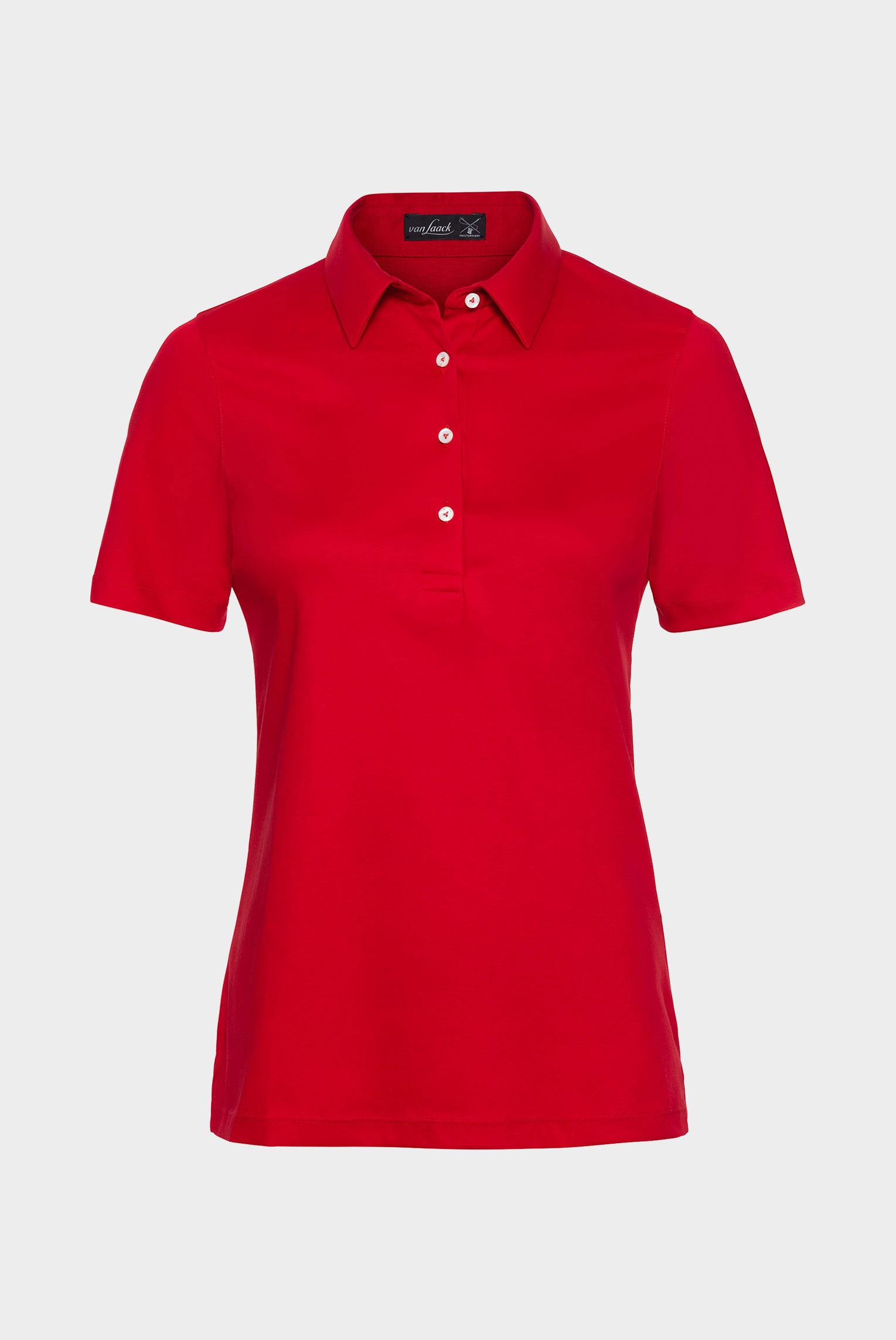 Neuheiten+Klassisches Damen Polo aus Jersey  Modern Fit Rot+05.600L..180031.550.46