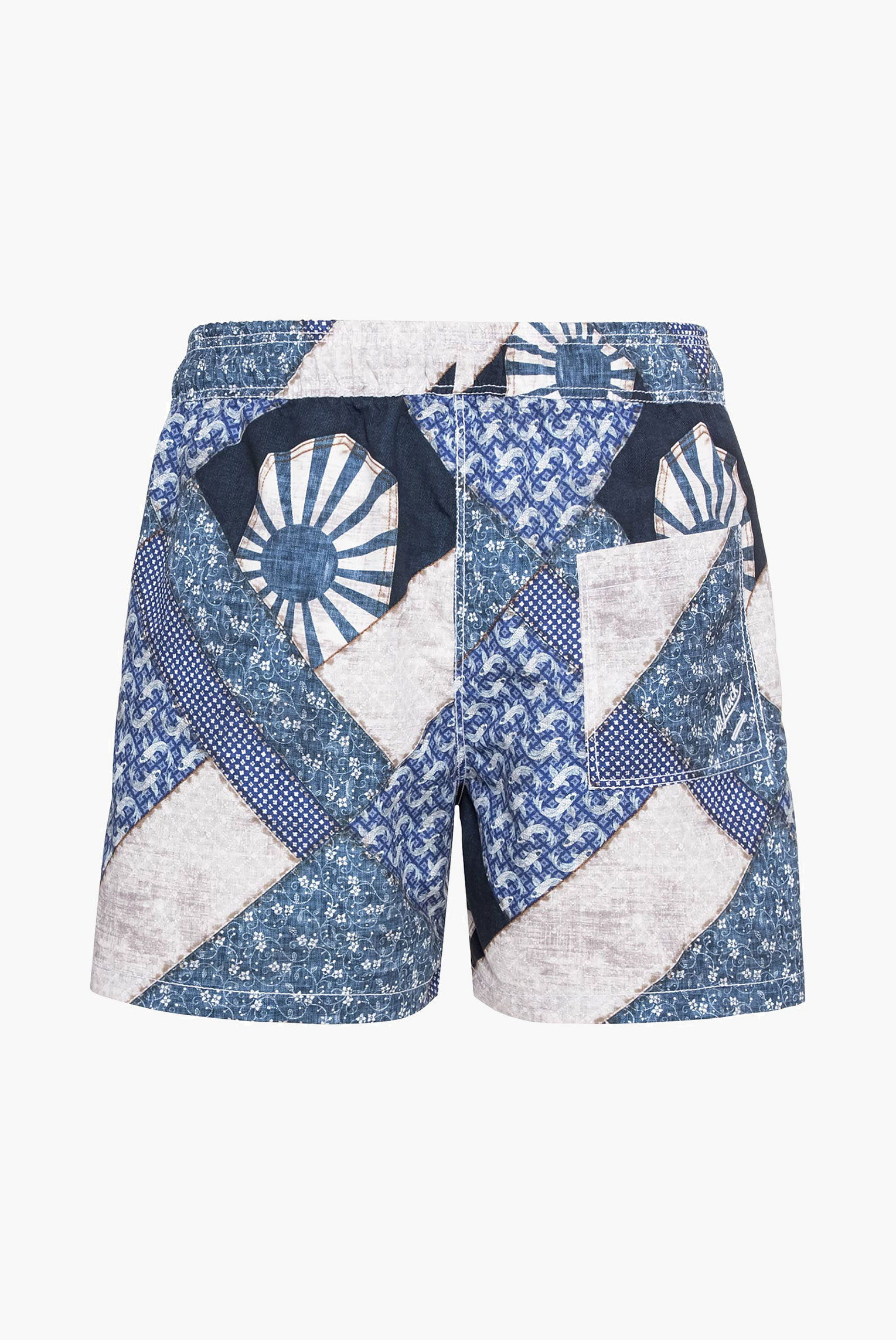Sale+swim shorts with exclusive blue patchwork print+91.1179..171718.770.48