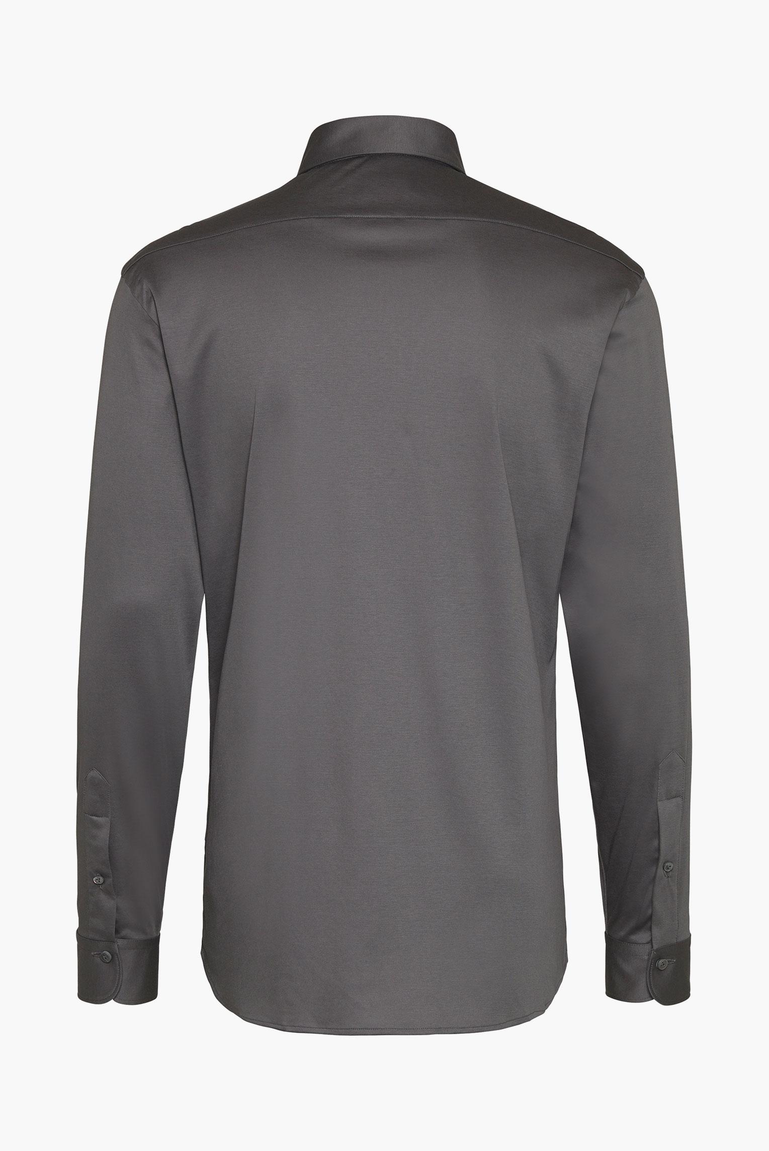 Jersey Shirts+Luxurious swiss cotton jersey shirt gray+20.1683.UC.180031.070.X4L